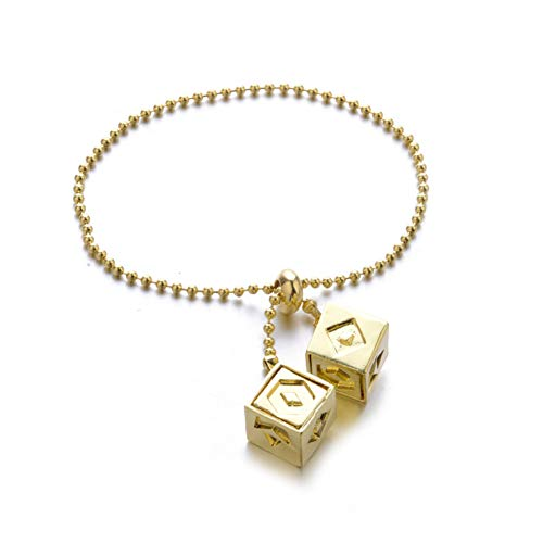 HanSolo Lucky Dice Bracelet,Cosplay Costumes Charms Bracelet Star Wars Jewelry Merchandise for Women Gold