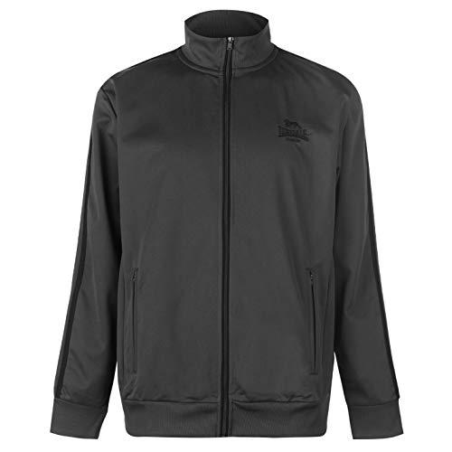 Lonsdale - Chaqueta deportiva casual con cierre de cremallera para hombre carbón y negro X-Small