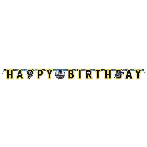 Unique 77519 Happy Birthday Letter Banner | Batman | 1 Pc