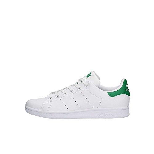 adidas Originals Stan Smith, Zapatillas, Blanco (Footwear White/Footwear White/Green 0), 38 EU