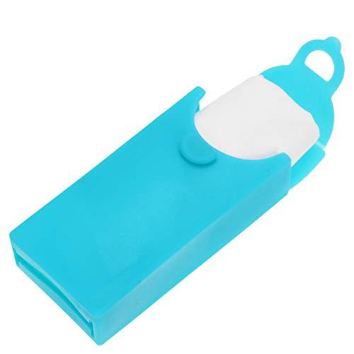 Milisten 6St Zakdoek Tissue Siliconen Zakdoek Doos Voor Reizen Mannen Vrouwen (Groen)