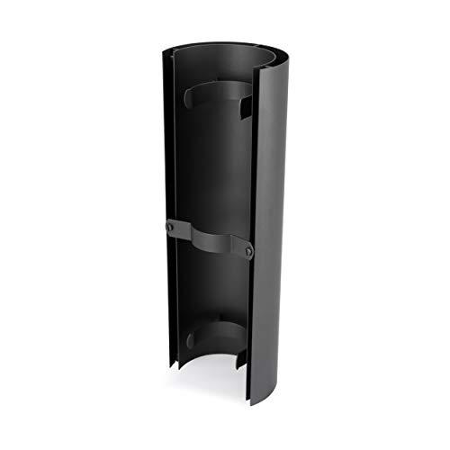 LANZZAS Pellet Ofenrohr Hitzeschutz - 460 mm - Durchmesser, DN Ø 100 mm - Farbe: gussgrau - Strahlungsschutz für Pelletöfen
