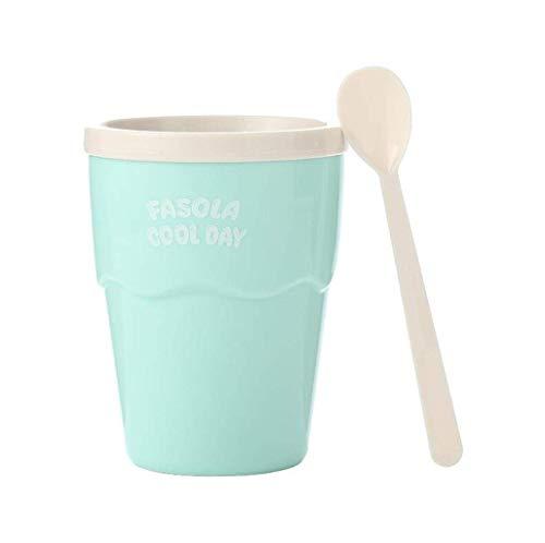 Schale, kreative Schal, zerstoßenes Eis Tasse, quetschen Tasse schlammige Hersteller, hausgemachter Sommer Metallauskleidung Tasse Kühl Eis Milchshake, ohne Plug-in machen einfach (Farbe: Pink) HLSJ