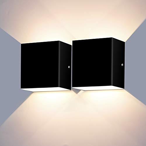 ERWEY 2 x 12 W LED Lámpara de pared Up Down Indoor...