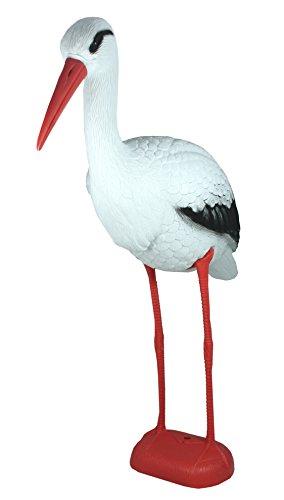 colourliving Storch Figur Geburt Gartendeko Vogelschreck Gartenfigur XL Storchfigur Teichdekoration
