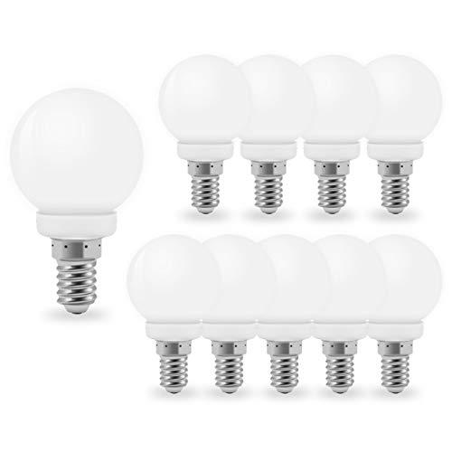 10er Pack Warmweiß LED Lampen, LED 1W E14 G45 Glühbirnen,220V milchig-weißes Golflicht LED,Passend für Wohnkultur, Bühne, Party und Weihnachtsdekoration