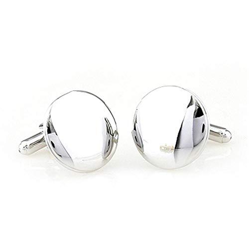 Daeou Manchetknopen voor heren Spiegel metalen manchetknopen zakelijke casual Franse shirt manchetknoop