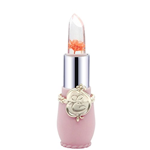 Tefamore Beauty Bright Flower Crystal Jelly Lipstick Magic Temperature Change Color Lip (D)