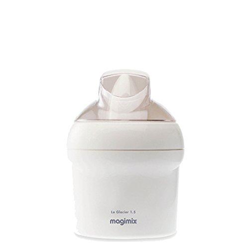 Magimix 11667 Glacier Eismaschine, Edelstahl, Weiß