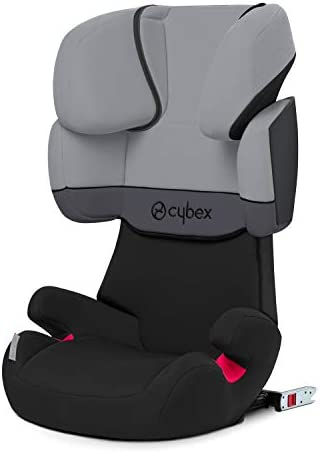 Cybex Silver Solution X-Fix Child's Car Seat, High Back Booster, For Cars with and without ISOFIX, Group 2/3 (15-36 kg), From Approximately 3 to Approximately 12 Years, Rumba Red
