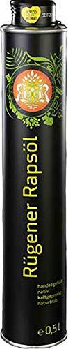 Rügener Rapsöl, nativ, kaltgepresst und naturtrüb 0,5l, kostenfreie Lieferung