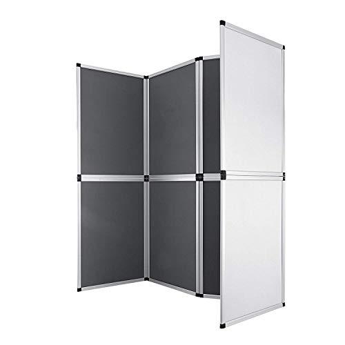 Guellin 61x91 cm Biombo 8 Paneles Biombo Plegable Separador de Espacios Pantalla Partición Interior para Separar Ambientes o Habitaciones