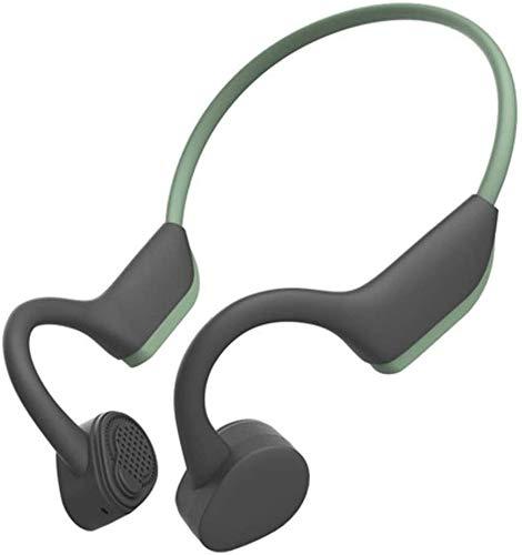 FHW Beengeleiding Bluetooth Headset Motion Bluetooth Headset 5.0 Wireless Headset Ear-Mounted Waterproof Headset, Kleur Naam: Grijs koptelefoon (Color : Green)