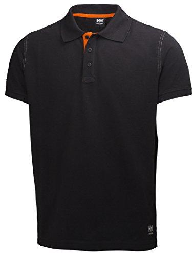 Helly Hansen Workwear Oxford 79025 Maglietta Polo, XXL, Nero