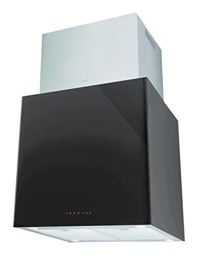 Cata Melina Silent Split 660m³/h-Campana (660 m³/h, 35, 42 dB, Isla, Negro, 50 W), Acero Inoxidable, 3 Velocidades