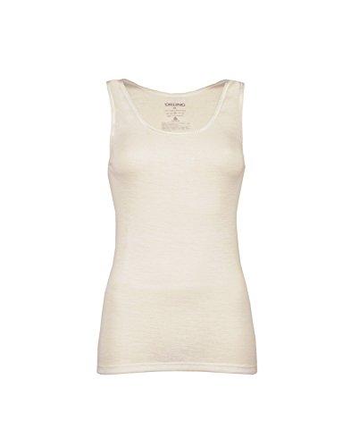 Dilling Merino Unterhemd für Damen - aus 100% Bio-Merinowolle Natur 38
