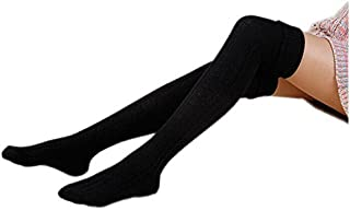 AnVei-Nao Womens Girls Winter Over Knee Leg Warmer Knit Crochet Socks Leggings