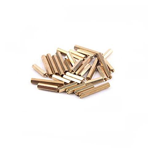 SUOFEILAIMU-PHONE CASE 40 piezas hexagonal hembra a hembra M2 M2.5 M3 M4 latón separador hexagonal espárrago hueco pilares pequeños herramientas (longitud 19 mm, tamaño: M3)