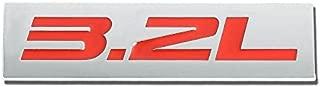 UrMarketOutlet 3.2L Red/Chrome Aluminum Alloy Auto Trunk Door Fender Bumper Badge Decal Emblem Adhesive Tape Sticker