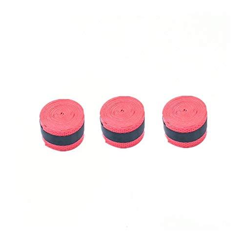 JIANGQIAO - Raqueta de bádminton (1/3 unidades, goma antideslizante, absorbente de sudor, con mango de raqueta, cinta de bobinado (color: 3 unidades)