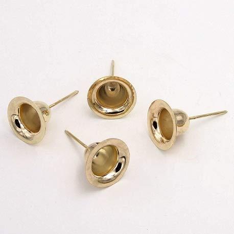 E+N Juego de 4 soportes para velas de Adviento (7 x 4 cm, cerámica), color dorado