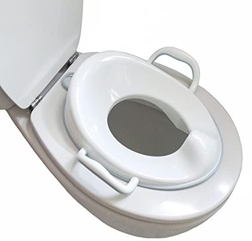 Bisoo - Adaptador WC Niños - Reductor Vater Bebé - Asiento Inodoro Seguro y Cómodo - Transición del orinal infantil al baño adulto - Compacto y Portátil - Incluye gancho (Azúl)
