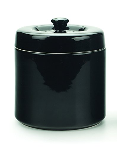 RSVP International FAT-BK Grease Keeper, 6 Cup, Black Stoneware