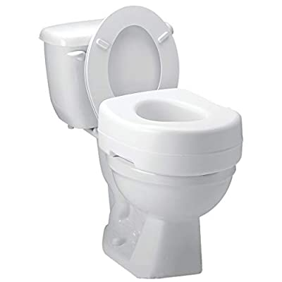Carex Toilet Seat Riser - Adds 5 Inch of Height to Toilet - Raised Toilet Seat With 300 Pound Weight Capacity - Slip-Resistant from Carex Health Brands