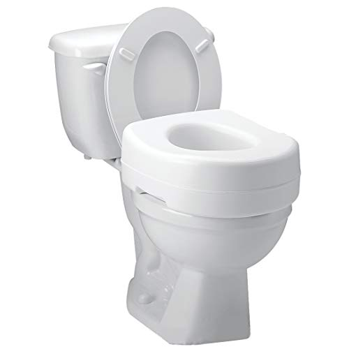 Carex Toilet Seat Riser - Adds 5 Inch of Height to Toilet - Raised Toilet Seat With 300 Pound Weight Capacity - Slip-Resistant