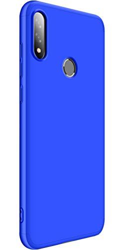 XINFENGDI Cover + Pellicola Protettiva ASUS Zenfone Max PRO(M2)/ZB631KL,PC Guscio Duro Finitura Matte Anticaduta Antiurto Antipolvere Custodia Smartphone per ASUS Zenfone Max PRO(M2)/ZB631KL - Blu