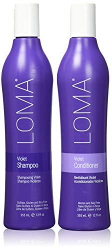 Loma Hair Care Violet Shampoo Violet Conditioner Duo, 12 Fl Oz each