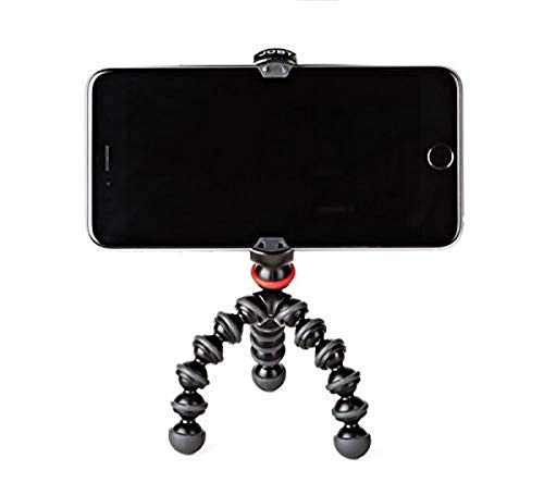 JOBY GorillaPod Mobile Mini: A Portable Mini GorillaPod Tripod That Fits Most iPhones, Androids and Windows Phones Including iPhone 8, 8 Plus, Google Pixel and Lumia 950 XL,schwarz