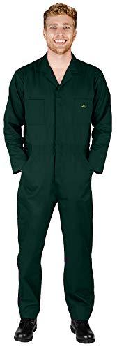 Natürliche Arbeitskleidung – Herren-Overall, langärmelig, Mischgewebe, große und große Größen – 1 Größe größer bestellen -  Grün -  XX-Large