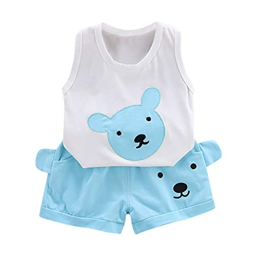 Julhold Summer Infant bebé niños niñas linda moda arcoíris impresión algodón transpirable...