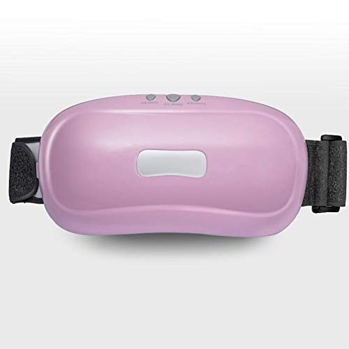 JIAYUAN Massagegeräte Bauchmassagegerät, Förderung der Magen-Darm-Motilität Kneten Bauch Maschine Doppelkopfmassage mehrere Modi + Einstellbare Kraft Drahtlose Massage (Color : Pink)