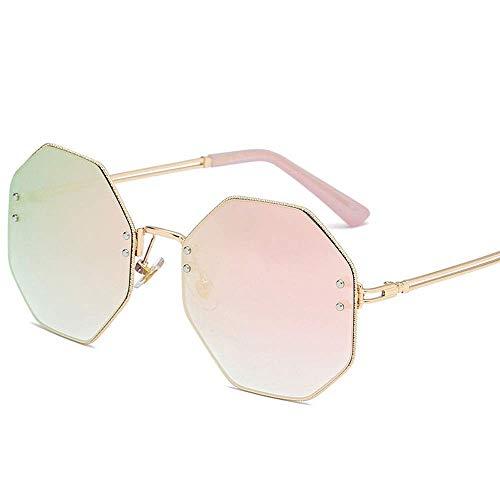 QYYtyj Achteckige Sonnenbrille Trend persönlichkeit Sonnenbrille männer und Frauen Mode Sonnenbrille uv400 Sonnenschirm Spiegel (Color : Mercury Film, Size : 142 * 59 * 19mm)