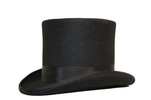 Viz-uk Wear Bonnet 100 % laine fait à la main 15,2 cm de haut pour mariage - Noir - Large