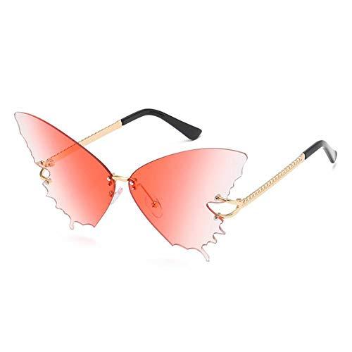 ZZOW Gafas De Sol De Mariposa De Gran Tamaño A La Moda para Mujer, Diseñador De Marca De Lujo, Gafas Graduadas Sin Montura, Gafas De Sol Femeninas, Grandes Sombras