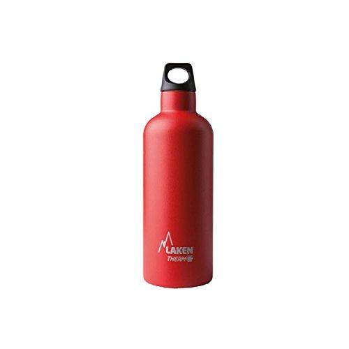 Laken Futura roestvrijstalen thermosfles met vacuüm-isolatie en smalle rietjes 500 ml rood