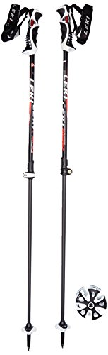 Leki Erwachsene Skistock Peak Vario Speed Lock, Base Color: Black Design: White-Anthr-Red, S, 634-6762