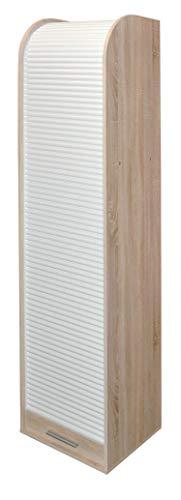 AVANTI TRENDSTORE - Volli - Armadio a tapparella in Legno Laminato e plastica Sintetica. Disponibile in 2 colorazioni Diverse. Dimensioni Lap 45x190x40 cm (Marrone - Bianco)