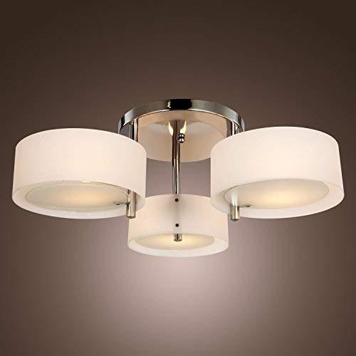 Saint Mossi® Design Modern Deckenleuchte Elegantes Deckenlampe Acryl Wohnzimmerleuchte 3 * E27 Base