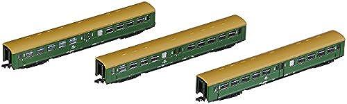"""Arnold HN4246 3-TLG. Set Reisezugwagen """"Lowa E5"""", Grün mit braunem Dach Modellbahn"""