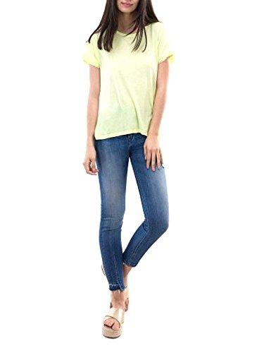 Tiffosi Damen T-Shirt Melrose Kurzarm mit Volant Pistazie Large