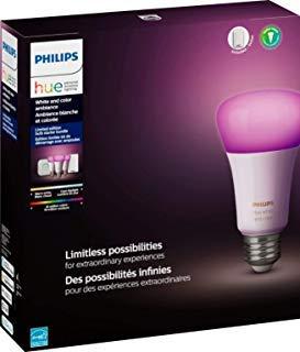 Philips Hue Phillips-HUE LED Lightbulbs, 3-Bulb Starter Kit, All Colrs in Rainbow & White