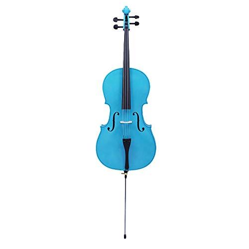 4/4 violonchelo azul práctica para principiantes violonchelo de madera sólida instrumento de cuerda
