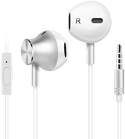 Amoner Wired Earbuds Earphones Headphones Noise Isolating Earbuds with Microphone Lightweight product image