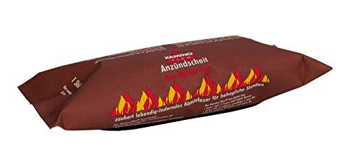 15 Stück KaminoFlam® - Kaminfeuer Andzündscheit, Dauerbrenner Kaminfeuerscheit, Kaminofen Brennstoff, Kachelofen, Holzofen Befeuerung