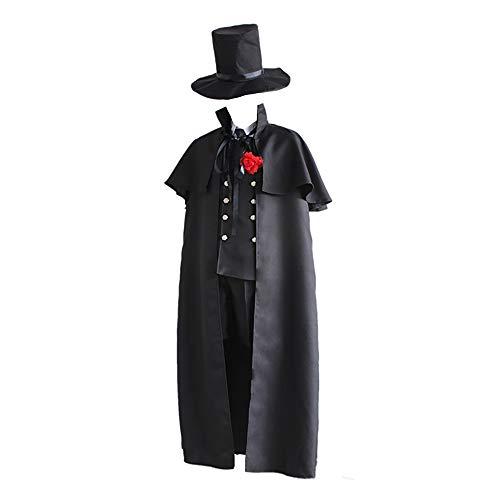 Updayday Ciel Phantomhive Disfraz de Cosplay Anime Black Butler Ciel Phantomhive Disfraz de Cosplay Uniforme de Funeral Trajes para Fiesta de Carnaval de Halloween