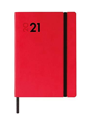 Finocam - Agenda 2021 1 Día página Dynamic Mara Rojo Español - 124 x 174 mm
